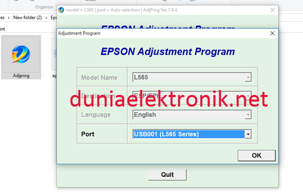 cara merreset printer epson