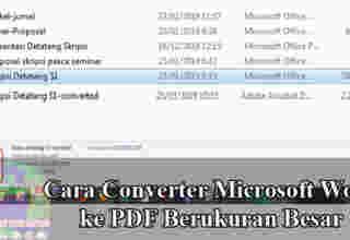 Cara Converter Microsoft Word ke PDF
