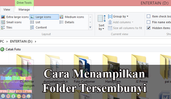 Cara menampilkan folder tersembunyi