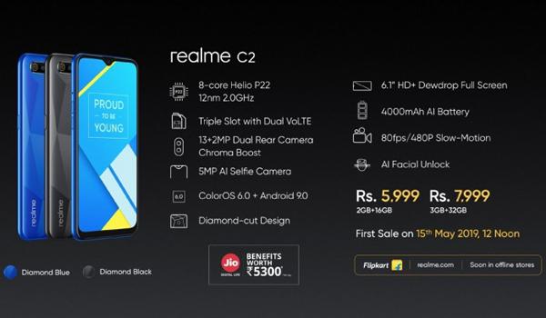 Spesifikasi Realme C2
