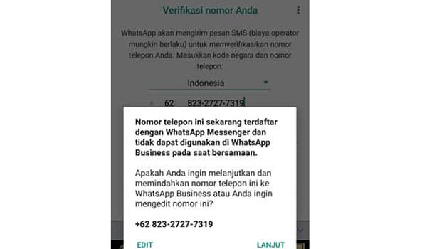 Merubah WhatsApp Biasa Menjadi WhatsApp Bisnis