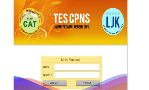 Aplikasi simulasi CAT CPNS 2019