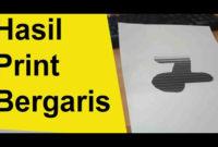 Hasil Print Bergaris