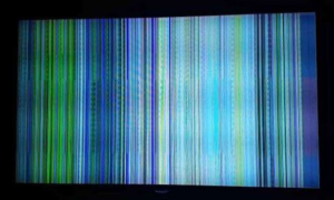 layar tv garis pelangi
