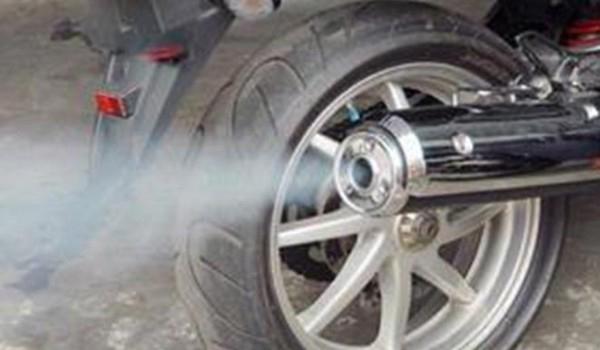 knalpot sepeda motor berasap