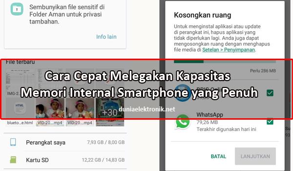 cara membersihkan memori internal smartphone penuh