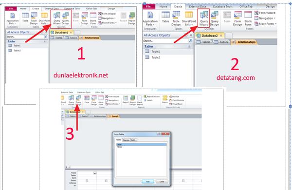 Cara menggunakan Microsoft Access