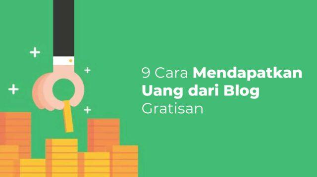 Mendapatkan uang dari blog