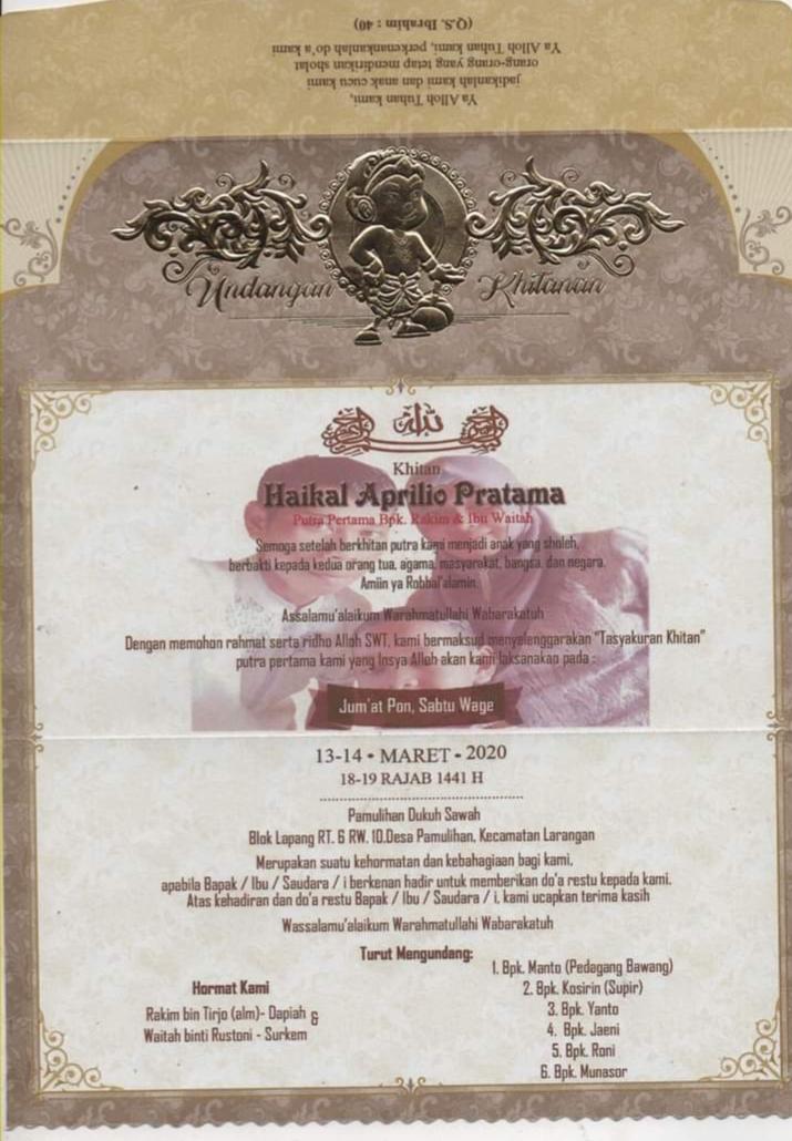 Desain undangan khitan