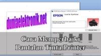 Cara memperbaiki bantalan tinta printer Epson