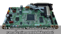 komponen mainboard printer