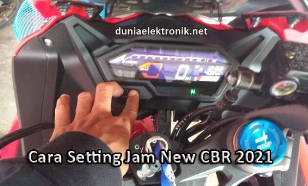 cara setting jam CBR 150 R